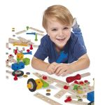Eichhorn Дървен конструктор, Айхорн (75ч.), Wooden Construction Set100039024