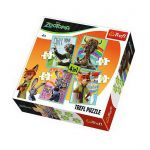 Trefl Пъзел Зоотрополис 4в1 (207ч.), Zootopia Trefl puzzle, 34258