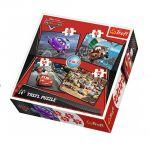 Trefl ПЪЗЕЛ за деца (4в1) КОЛИТЕ (207ч.), Cars Trefl puzzle, 34107