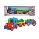 Eichhorn Дървено цветно влакче с очички, Wooden train, 41 см, 100022307