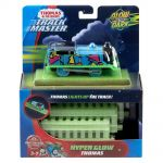 "Fisher Price Влакче ТОМАС със ""Светещи"" релси Thomas & Friends Motorized Thomas Glow in the Dark от серията TrackMaster, FVJ73"