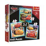 Trefl Пъзел Колите 3в1 (20x36x50ч.), Cars3 Trefl puzzle, 34848