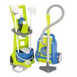 Ecoiffier Детски сет за почистване, Cleaning Trolley & Vacuum Cleaner, 1770