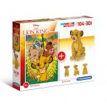 Clementoni Puzzle 104 elements + 3D MODEL The Lion King Super color, 20158