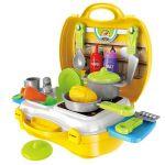 Детска кухня в куфар Bowa, Pretend Play Kitchen Cooking, 8311