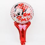 Balloon Birthday Party with stick: Minnie Mouse, 49 cm.