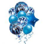 Balloon Birthday Party Bouquet with Confetti: Bathman, 9pcs