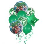 Balloon Birthday Party Bouquet with Confetti: Avengers, 9pcs