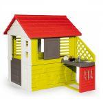 Smoby Детска къща с кухня и аксесоари за игра на открито, Nature House, 810713