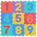Foam puzzle Numbers (9pcs.), 31x31 cm., 1161887