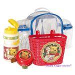 Вело-аксесоари комплект (Кошничка - бидонче - звънче) с Winnie the Pooh