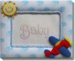 Рамка за снимка САМОЛЕТ, синя, FBF-30