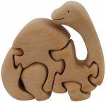 Пъзел дървен 3D - Бронтозавър
