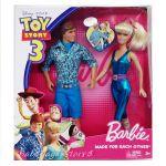 Barbie КУКЛИ Кен и Барби от серията Toy Story 3, R4242