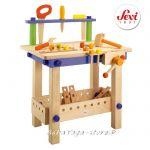 РАБОТИЛНИЦА с Инструменти дървена игра с мини фигурки от Sevi - 82082