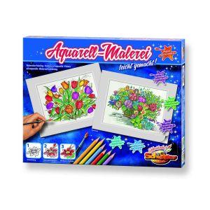 Schipper КАРТИНА за рисуване комплект с бои и четка, Ваза с цветя, 602110668