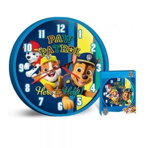 Стенен часовник за детска стая Пес Патрул 25cm., Disney Paw Patrol wall Clock, 503887