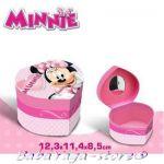 Кутийка СЪРЦЕ за бижута с МИКИ Маус Minnie Mouse heart shape box 91040