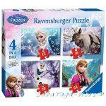 Ravensburger ПЪЗЕЛ за деца ЗАМРЪЗНАЛОТО КРАЛСТВО Disney Frozen Jigsaw: 4 in a Box Puzzle (NEW) - 073603