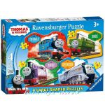 Ravensburger puzzle Thomas & Friends: Large Shaped puzzle 4in1, 070787