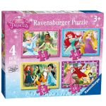 Ravensburger ПЪЗЕЛ за деца ПРИНЦЕСИТЕ 4в1 Disney Princess Beautifull - 073979