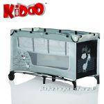 Кошарка за бебе на 2 нива ЖИРАФ от KIDDO - 4015 сив/черен