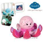 7460 Нощна лампа ОКТОПОД плюш за детска стая от CloudB Octo Softeez, Pink