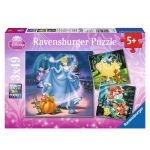 Ravensburger ПЪЗЕЛ за деца ПРИНЦЕСИТЕ 3x49 Disney Princess - 09339