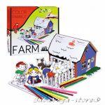 Рисувателен комплект ФЕРМА за сглобяване с цветни моливи Farm Creative set colour pencils 1036