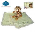 7172 Кърпи за рамо и дрънкалка ЖИРАФ от CloudB, Burp Cloth Gift Set, Giraffe