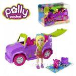 Polly Pocket Кукла Поли с кола, Drive 'N Slide Car на Matel, X9047