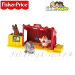 Fisher Price Играчка ФЕРМА с фигурки домашни животни, от серията Little People, M1765