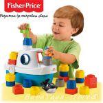 Fisher Price Кораб с формички от серията Little People Builders Floaty Boat, M6632