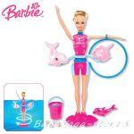 Barbie КУКЛА Барби Треньор на делфини, Dolfin trainer Splash & Spin, X8380