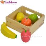 Eichhorn Дървена играчка Кутия с плодове, Wooden Box with Fruits, 3734