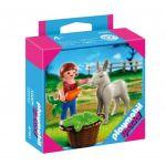 Playmobil Special: Фигурки Фермер с магаре, Child with Donkey Foal, 4740