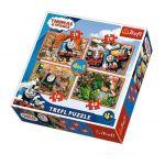 Trefl Пъзел Томас и Приятели 4в1 (207ч.), Thomas & Friends Trefl puzzle, 34300