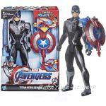 Marvel Avengers Фигypa Капитан Америка със звуци, Titan Hero Power Fx Captain America от Hasbro, E3301