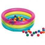 Детски надуваем център за игра, Intex Inflatable Ball Pool with 50 Coloured Balls, 48674