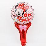 Детски Балон с дръжка Мини Маус (49см.), Balloon Minnie Mouse
