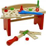 Дървена Работна маса с инструменти (22ч.), Heros Wooden work bench, 28402