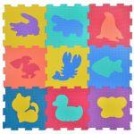 Мек пъзел за под Животни (9 бр.), 31х31 см., Foam puzzle Zoo (9pcs.), 1161891