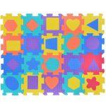 Мек пъзел за под Геометрични фигури, 9-20 части, 31х31 / 17x17 см., Foam puzzle (5-9pcs.), 1161877