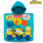 Хавлия ПОНЧО Миньоните, Minions boy's poncho towel with hood, 100008