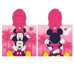 Хавлия ПОНЧО Мини Маус, Minnie Mouse girl's poncho towel with hood, 875026