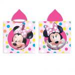 Хавлия ПОНЧО Мини Маус, Minnie Mouse girl's poncho towel with hood, 588237