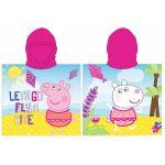 Хавлия ПОНЧО Пепа Прасето, Peppa Pig girl's poncho towel with hood, 875491