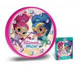 Стенен часовник за детска стая Искрица и Сияйница 25cm., Disney Shimmer and Shine wall Clock, 95260