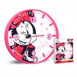 Стенен часовник за детска стая Мини Маус 25cm., Disney Minnie Mouse wall Clock, 503759