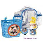 Вело-аксесоари комплект (Кошничка - бидонче - звънче) с Mickey